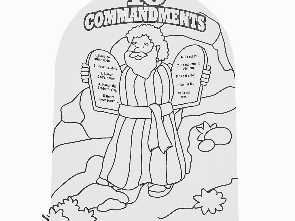 27 Marvelous Picture Of 10 Commandments Coloring Pages