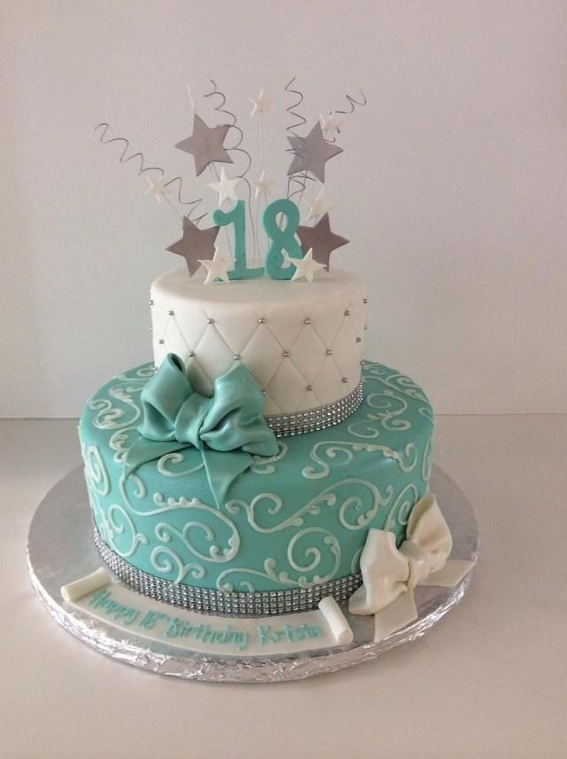 18 Birthday Cakes 18th Cake Stars Bows Gallery Sugar Divas Cakery