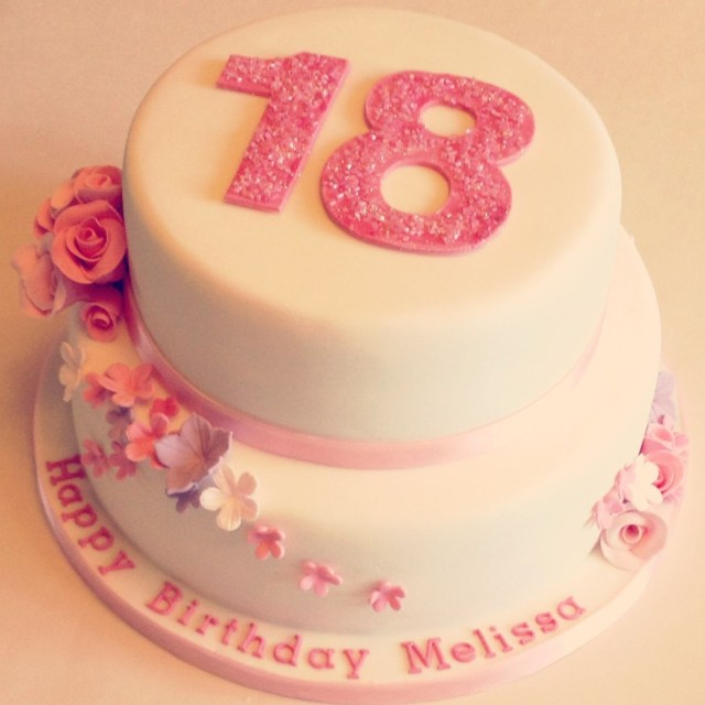 18 Birthday Cakes Floral 18th Birthday Cakes Make The Pink A Mint Green And It Would