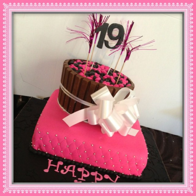 19 Birthday Cake Awesome 19th Birthday Cake Image Birthdays Pinterest 19th