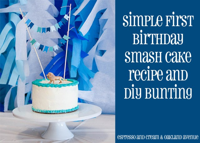 1St Birthday Smash Cake First Birthday Smash Cake And Diy Bunting Espresso And
