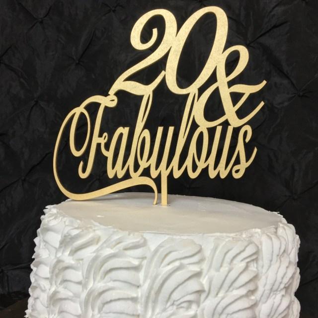 20Th Birthday Cakes 20th Birthday Cake Topper 20 Fabulous Cake Topper Glitter Cake