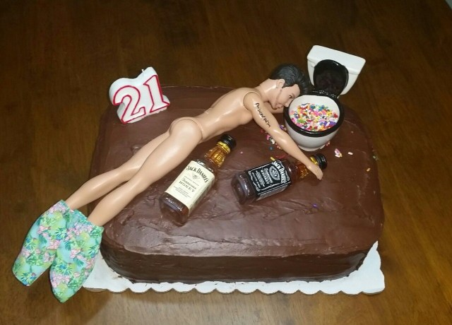 21St Birthday Cake Ideas For Him 21st A Guy Made This My