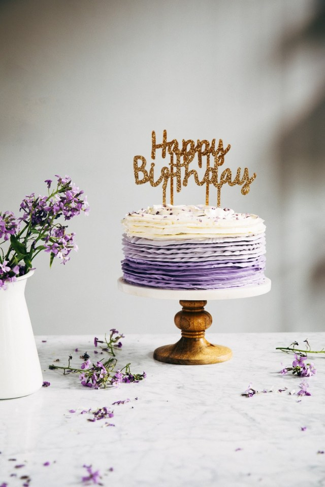 30Th Birthday Cake Ideas 30th Birthday Chocolate Cake With Lavender Ruffle Frosting