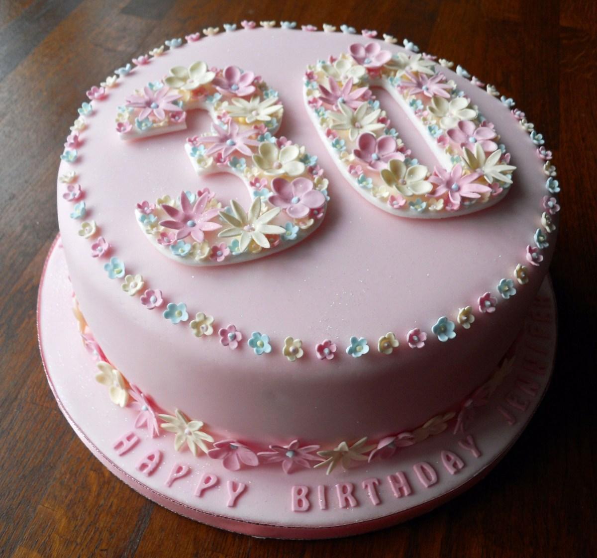30Th Birthday Cake Ideas Flowery 30th Birthday Cake Fun Cakes Pinterest 30 Birthday