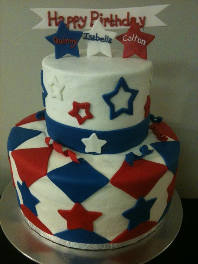 4Th Of July Birthday Cakes 4th Of July Birthday Cake And Smash Cakes Cakecentral