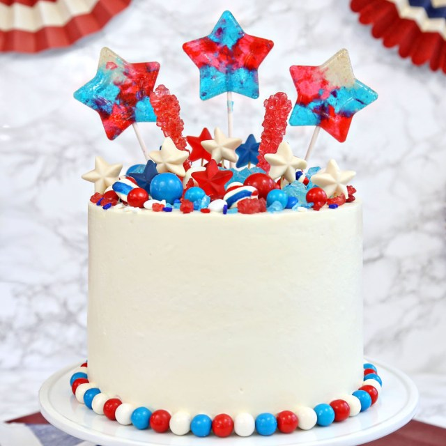 4Th Of July Birthday Cakes Fourth Layer Cake Sugarhero