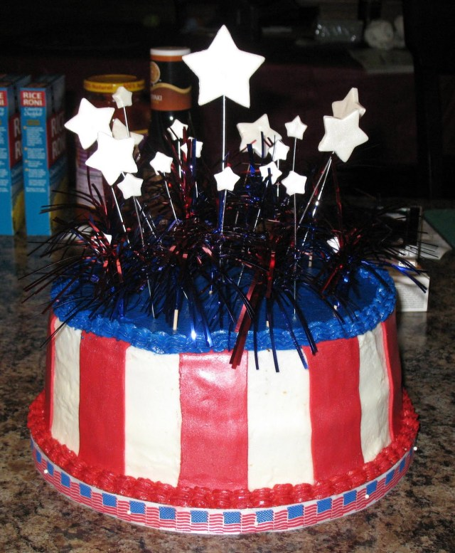 4Th Of July Birthday Cakes Js Cakes 4th Of July Birthday Cake