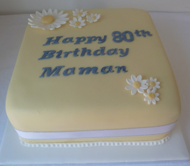 80Th Birthday Cake 80th Birthday Cake Wedding Birthday Cakes From Maureens Kitchen