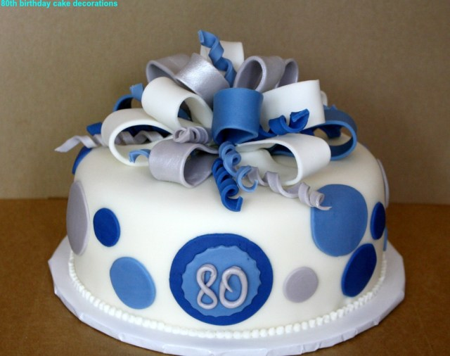 80Th Birthday Cake Best 80th Decorations 2015 The Party
