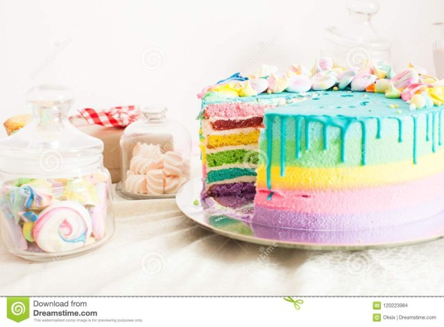 Amazing Birthday Cakes Amazing Birthday Cake With Other Sweets Stock Photo Image Of