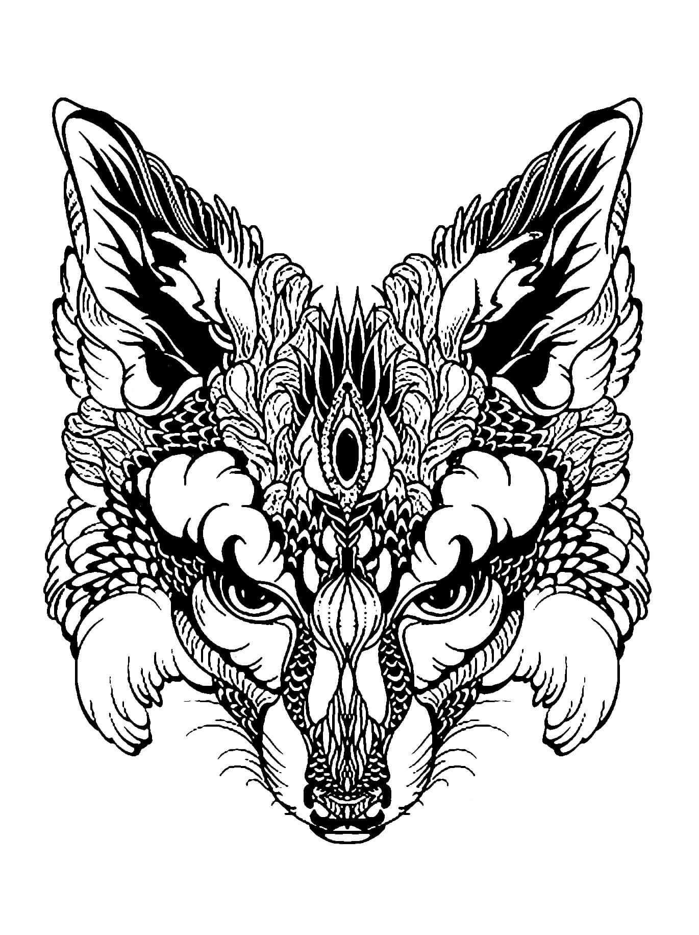 Animal Mandala Coloring Pages Animal Mandala Coloring ...