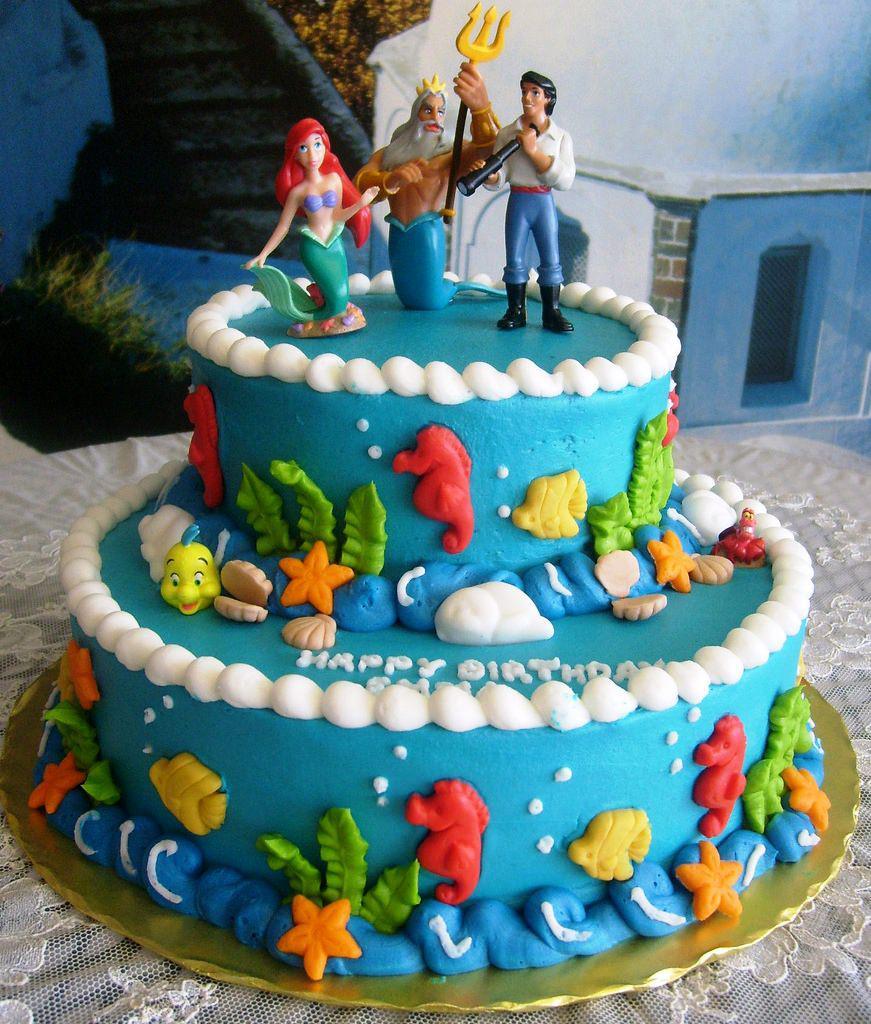 Ariel Birthday Cakes Little Mermaid Cake Creative With Homemade