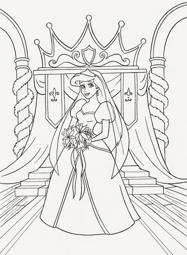 Ariel Coloring Page Coloring Pages Ariel The Little Mermaid Free Printable For Princess