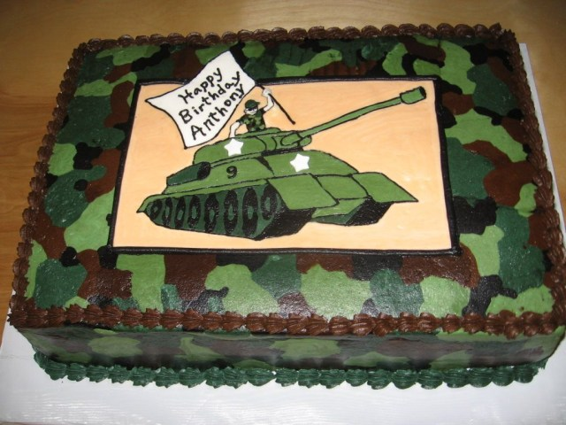 Army Birthday Cakes Tank Camo Cake For A 9 Year Old Boy All