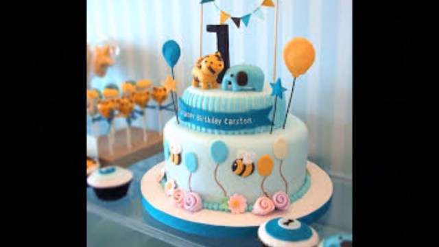 Baby Birthday Cake Ba Boy 1st Birthday Cake Photos Youtube