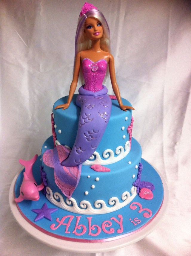 Barbie Birthday Cakes Childrens Birthday Cakes Barbie Mermaid Cake Vanilla Cakes With