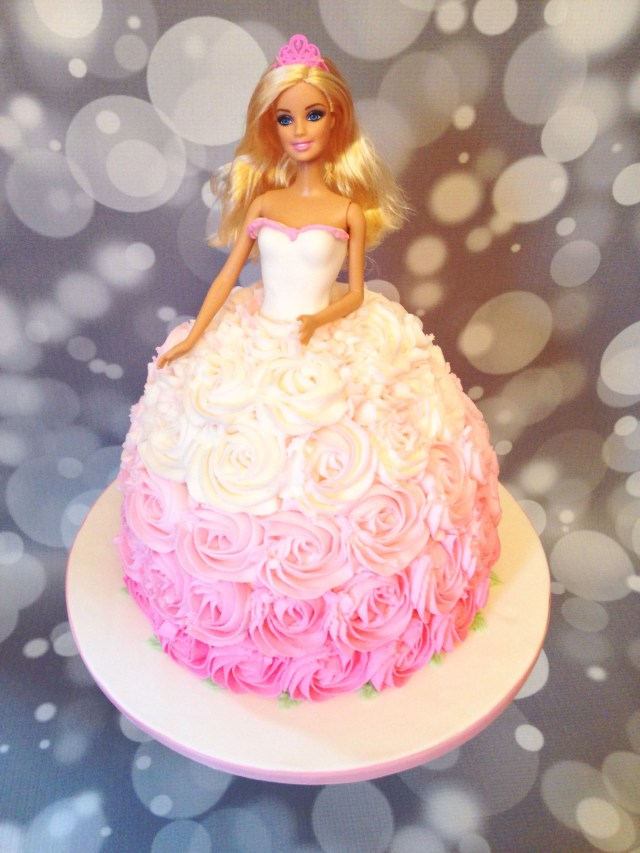 Barbie Birthday Cakes Pink Ombr Barbie Cake Amy Hart Sweethart Cakes Amy Hart