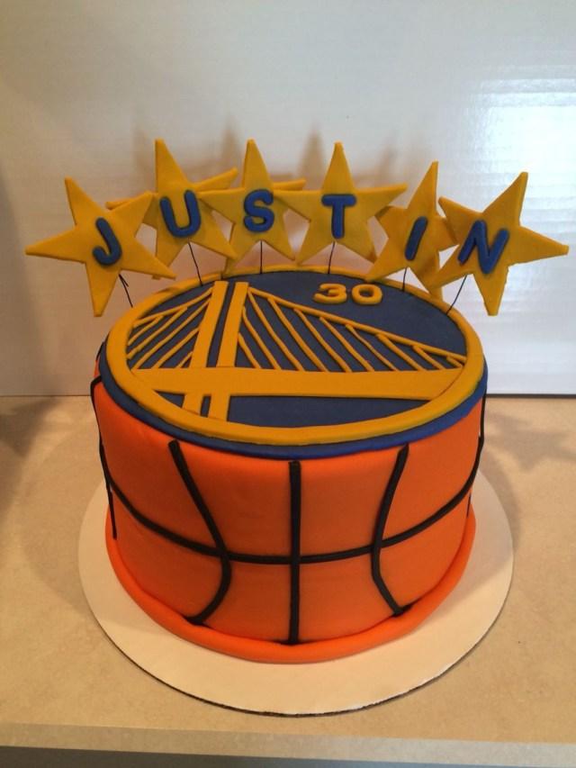 Basketball Birthday Cakes Golden State Warriors Birthday Cake My Cake Creations Birthday