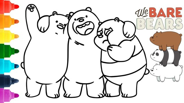Bear Coloring Pages We Bare Bears Coloring Pages Ice Bear Grizzly And Panda