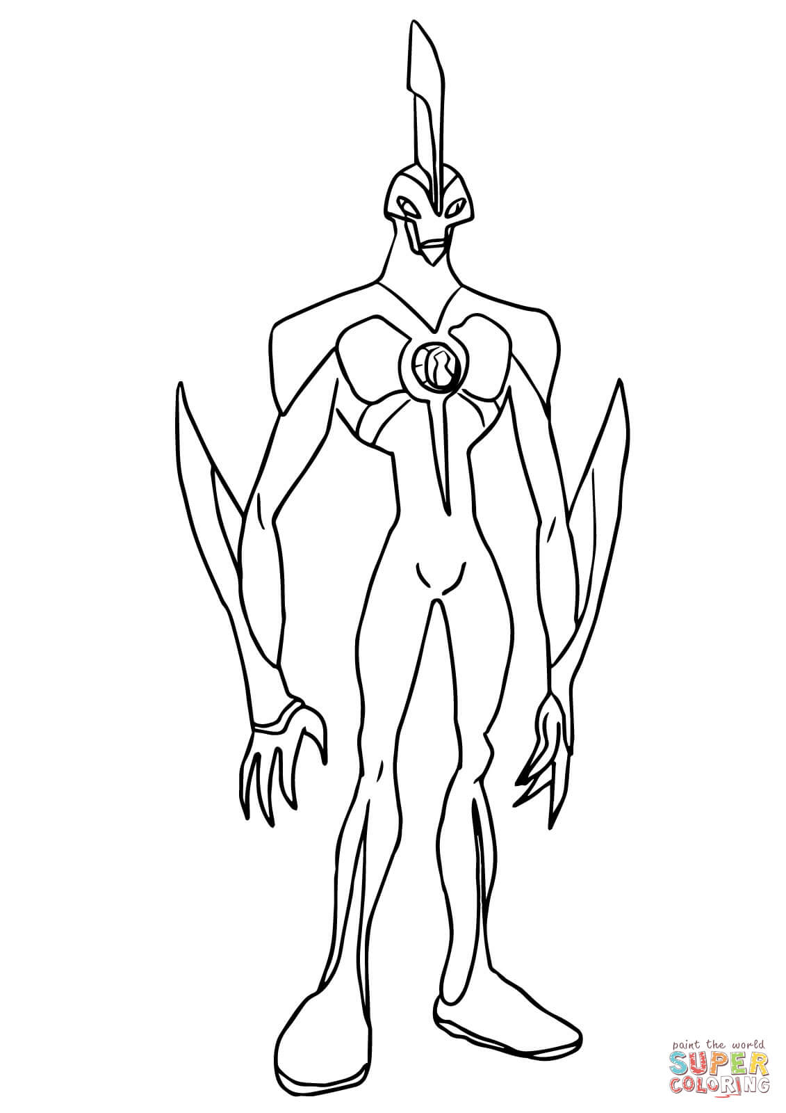 b82dd coloring pages ben 10