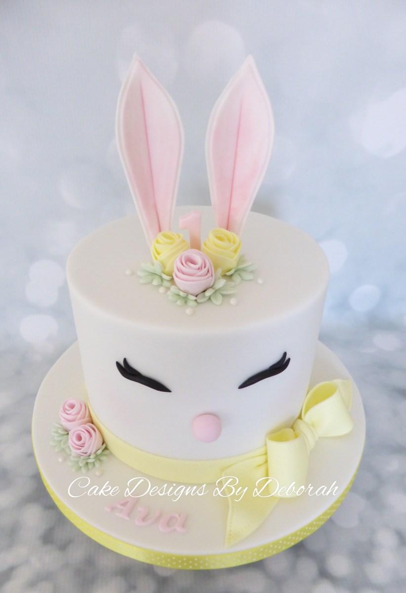 Birthday Cake Ideas For Girls Easter Bunny 1st Birthday Cake Cake Designs Deborah Kawaii