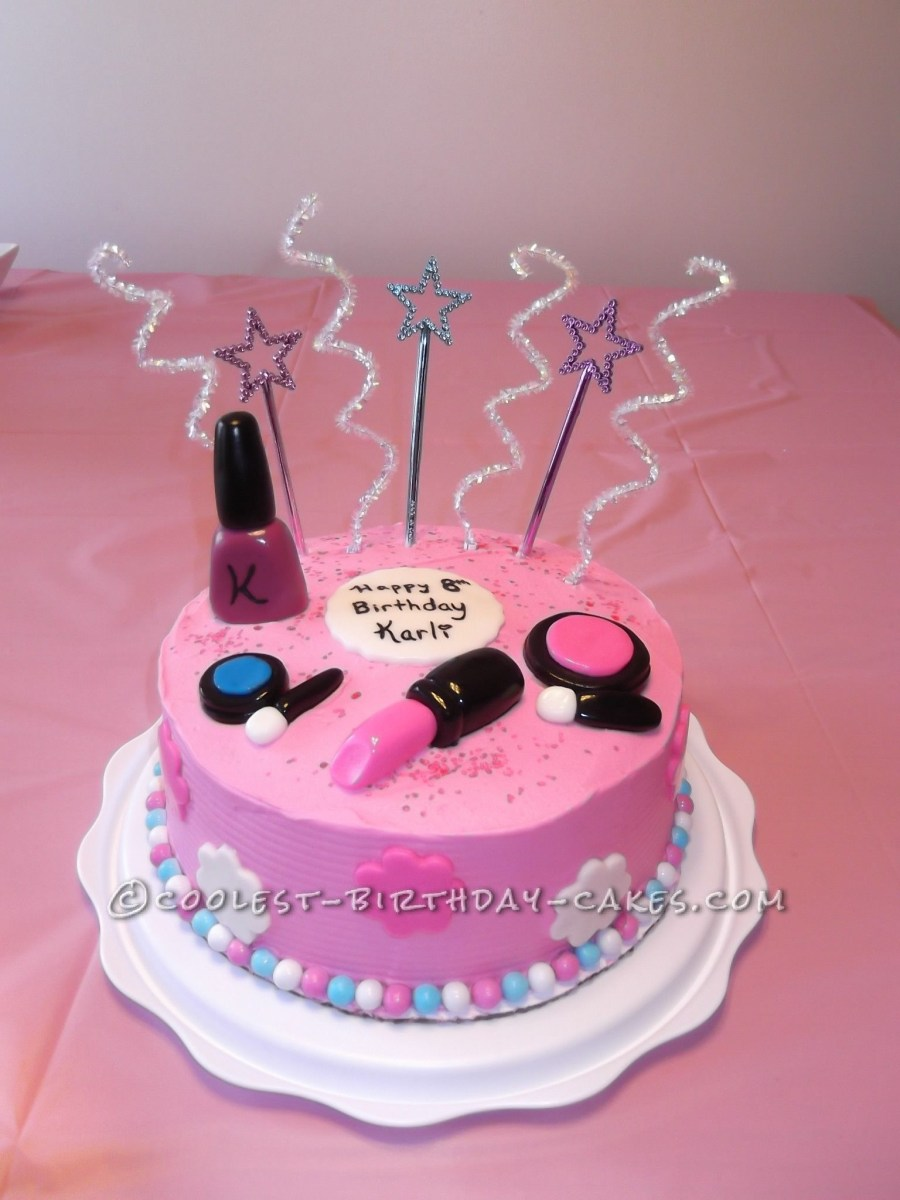 Birthday Cake Ideas For Girls Sweet Makeup An 8 Year Old Girl And