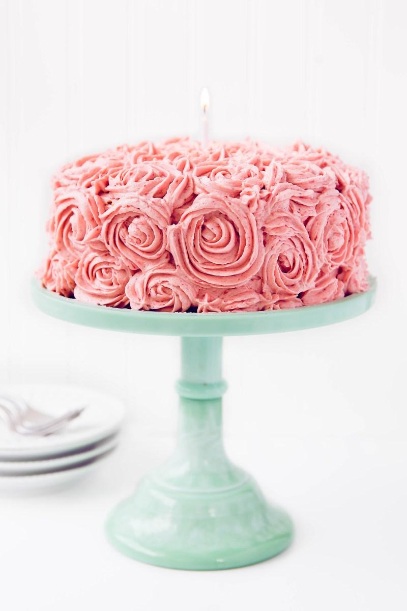 Birthday Cake Image Strawberry Almond Birthday Cake Broma Bakery