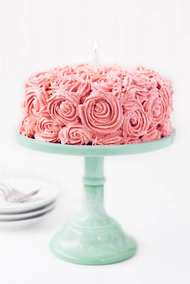 Birthday Cake Image Strawberry Almond Birthday Cake Broma Bakery