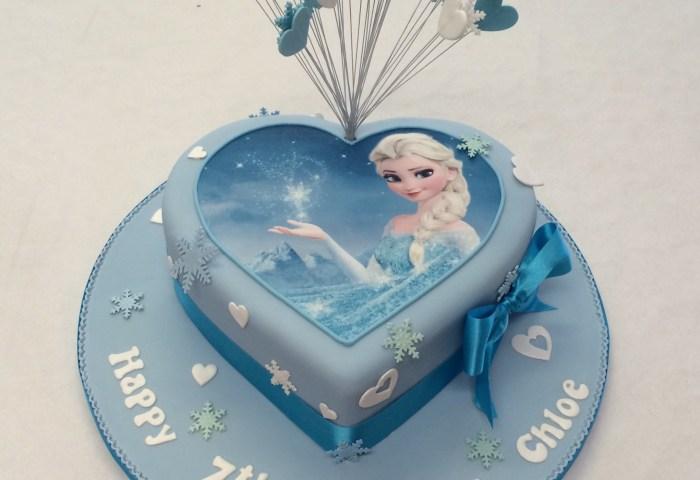 Birthday Cakes For Girls Heart Shaped Frozen Cake Girls Birthday