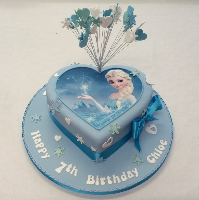 Birthday Cakes For Girls Heart Shaped Frozen Cake Girls Birthday Cakes Celebration Cakes