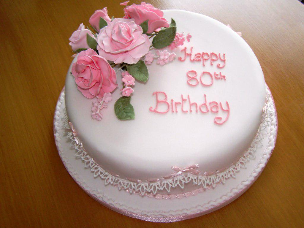 Birthday Cakes For Women 80th Classic Style Best