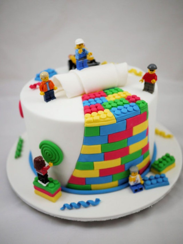 Birthday Cakes Kids Love This Has To Be His First Birthday Cake Lego Birthday Cake
