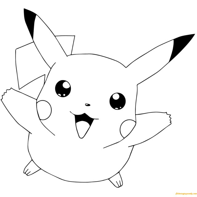 Blank Coloring Pages Blank Coloring Pages For Kids Pikachu With Lifetime Pikachu Pictures
