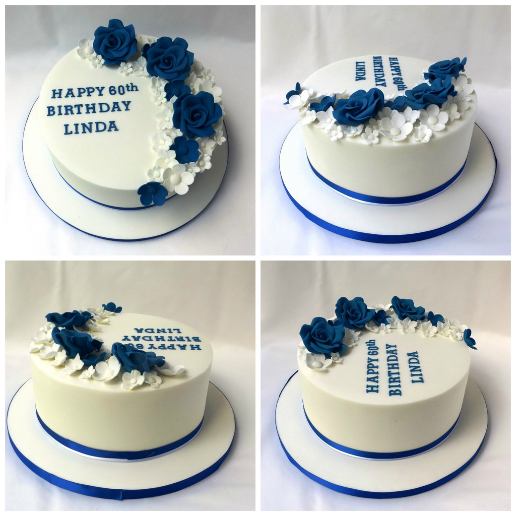 Blue And White Birthday Cake Royal Blue White Birthday Cake Welcometreats Flickr