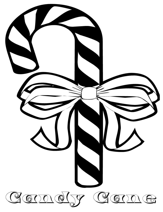 Candy Cane Coloring Page Candy Cane Coloring Pages Free Printable Candy Cane Coloring Pages
