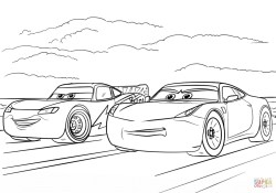 Cars 3 Coloring Pages Mcqueen And Ramirez From Cars 3 Coloring Page Free Printable