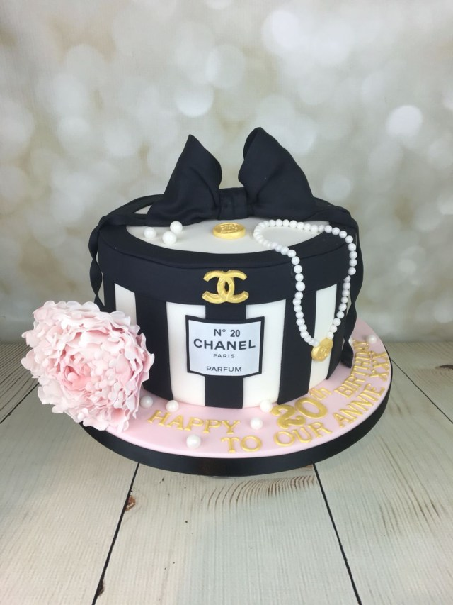 Chanel Birthday Cake Chanel Hat Box Cake For Annie In Mancot Happy Birthday X