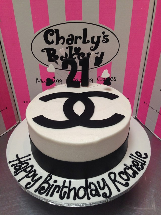 Chanel Birthday Cake Coco Chanel Themed Birthday Cake Charlys Bakery Flickr