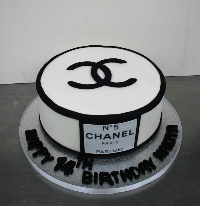 Chanel Birthday Cake Simple Chanel Themed Birthday Cake