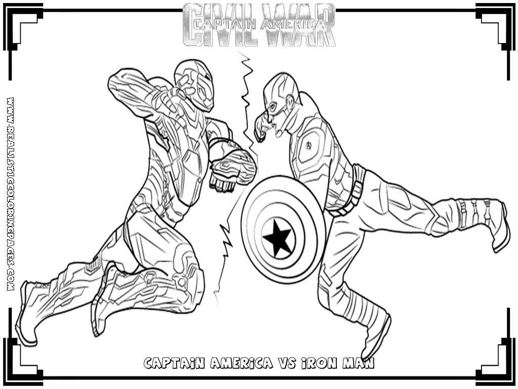 Civil War Coloring Pages Coloring Pages Captain America Civil War ...