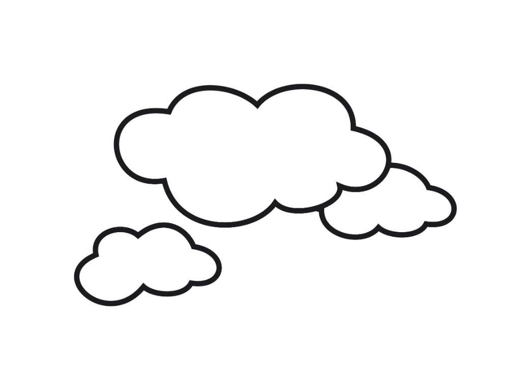 Cloud Coloring Page Sun And Clouds Coloring Pages Cloud Kids For ...