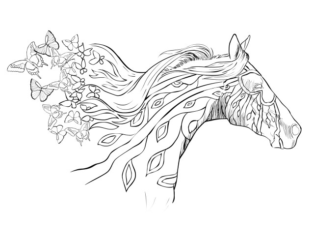 Coloring Pages Horses Horse Coloring Page Free Download Selah Works Adult Coloring Books