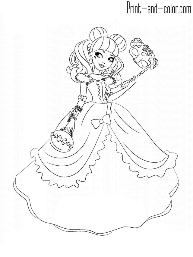 Coloring Pages To Print Ever After High Coloring Pages Print And Color Com Wuming