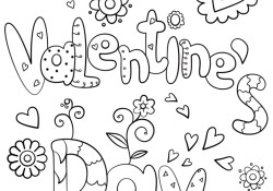 Coloring Pages Valentines Day Happy Valentines Day Coloring Page Free Printable Coloring Pages