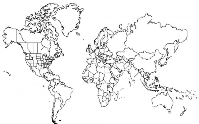 Continents Coloring Page Continents Drawing At Getdrawings Free For Personal Use