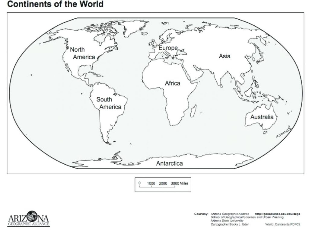 Great Image Of Continents Coloring Page