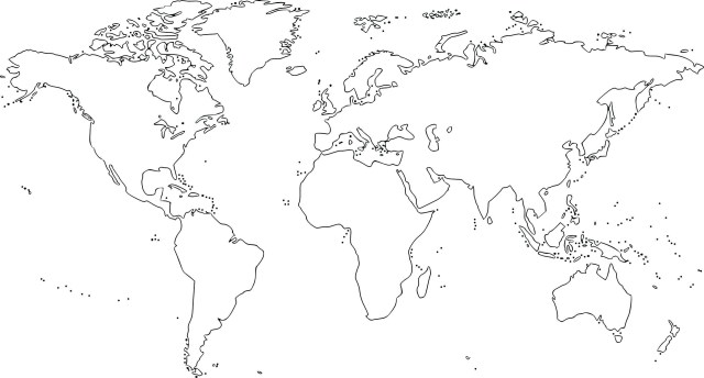 Continents Coloring Page World Map Seven Continents Best No Labels New Europe Coloring Page
