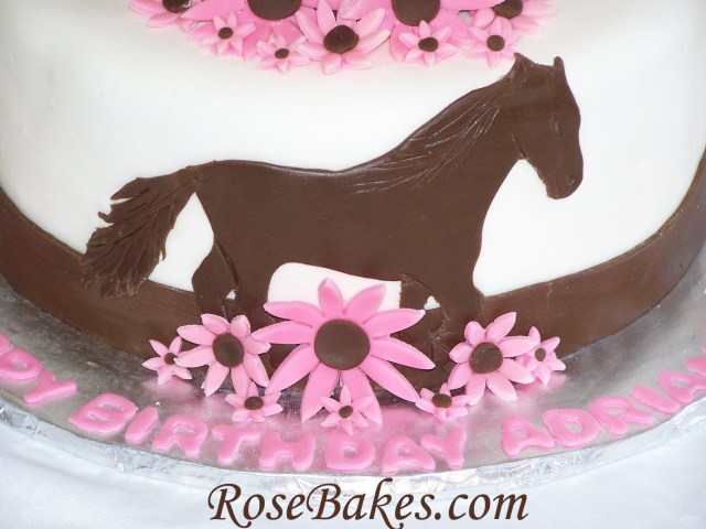 Cowgirl Birthday Cake Cowgirl Horse Birthday Cake