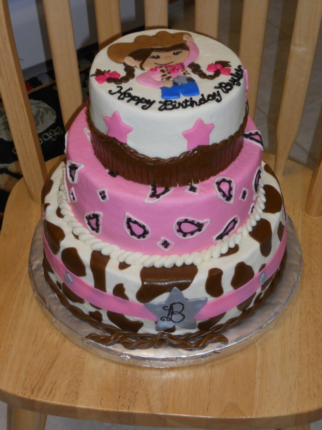 Cowgirl Birthday Cake Pink Cowgirl Birthday Cakecentral